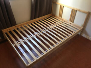 Bed Frame for sale - Wood - Fits Double Mattress
