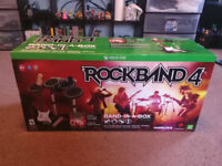 Barely used BOXED Rock Band 4 XBOX ONE BAND IN A BOX BUNDLE