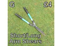 Gardening Tools (G) Short/Long Arm Shears