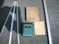 Cowley Level. Building site level for foundations, drains, paths, driveways etc., With instructions