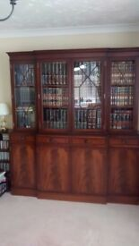 Mahogany Display/Library/Storage Unit