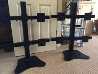 2 Quadvision VT LCD Stands each holding 4 screens. Plus Samsung monitors free with stands
