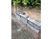 Security fence blocks