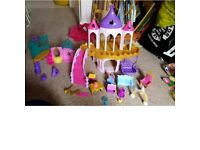 My little pony castle and ponies