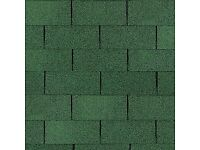 Green Mineral Square Edge Roof Shingles.