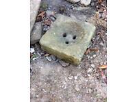 Reclaimed stone gully