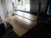 Light oak sturdy ikea desk with shelf .