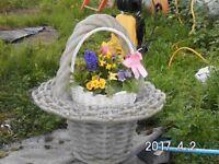 large ornamental garden basket