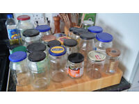 22 Assorted Glass Jars - Free to collect!