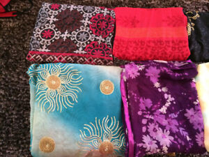 Large Scarfs to make dresses, cushion covers