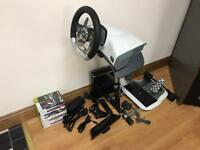 Xbox 360 1TB with 13 games, wireless wheel, Kinect + remote control