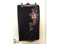Brand new KAREN MILLEN embroidered fishtail skirt only £15