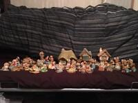 Large collection of Pendelfin figurines