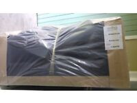 Great genuine Bentinck Furniture - Manhattan Black 2 seater sofa. Brand new (still in foil) ASAP