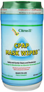 Citrus II Cpap Mask Wipes. 5 bottles of 62 wipes (new, unopened)