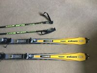 Elan skis, Rossignol bindings and Scott poles