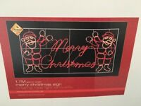 Brand new Christmas outdoor light sign