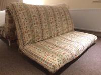 Oak double size futon with mattress