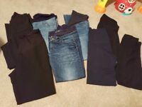Maternity jeans and trousers (size 10/12)