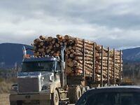 Off highway log hauler