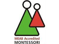 Montessori Classroom Assistant, N5 - £20,650