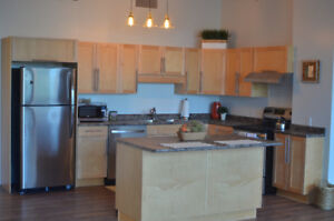 Newly renovated studio loft on Jasper Ave and 105 St. for rent