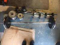 York & reebok weights and barbell, dumbell & ez bar