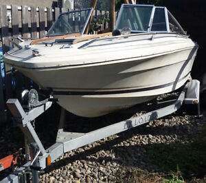 SeaRay V-190 w/ EZ Loader trailer