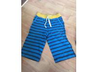 MINI BODEN boys stripy knee length shorts