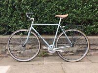 Vintage Alain Kaye single-speed 54cm. Reynolds 531 tubing. Sugino Pista crank.
