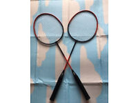 Two badminton rackets,immaculate,quick sale at £10,I've got other kids&adults rackets available