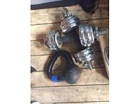 Weights gym use kettle bell