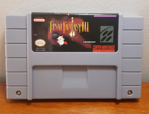 Final Fantasy III SNES game cartridge - Great condition!