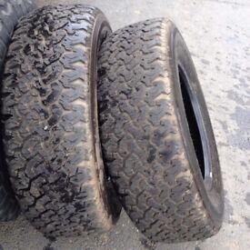 pair 235/70R16 Tyre +5mm Tread Quick Sale cheaps