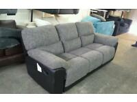 New 3 seater recliner sofa in grey and black ex photo shoot models £225