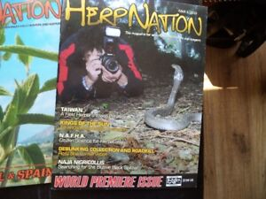 HERP NATION MAGAZINES #1,2010, Plus others # 1 RARE.