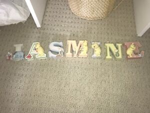 baby letters and book holders