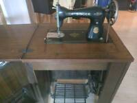 Singer sewing machine cabinet 15k80