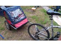 Bumper Adventure Bike Trailer for 2 children