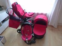Mamas Papas pink pushchair