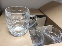 71 glass half pint tankards - used once - great for weddings, parties, craft beer festivals