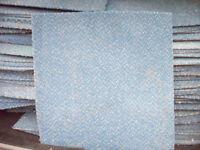 Heavy duty used carpet tiles Blue with light fleck