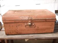 Tin Trunk. Old