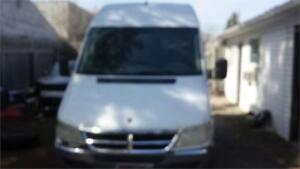 2006 DODGE SPRINTER 2500 DIESEL WITH METAL SHELVES SAFETIED