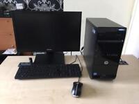 """Hp Pro 3500 Intel i5 3.2 ghz 8gb ram 500gb hdd 22"""" Samsung led windows 10 refurbished full system"""