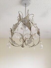 2x shabby chic lampshades