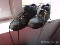 size 10 steel toe boots £7 worn