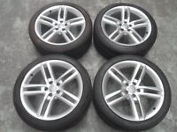 GENUINE AUDI A7 / A8 SET OF 19in ALLOY WHEELS & TYRES PART NO 4H0601025R