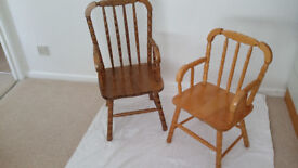 Children's wooden chairs