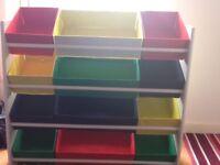 Childs colouful storage unit